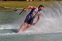 U.S. barefoot water ski athlete William Farrell.